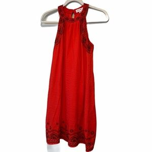 Red Embroidered THML Ladies Dress, PXS